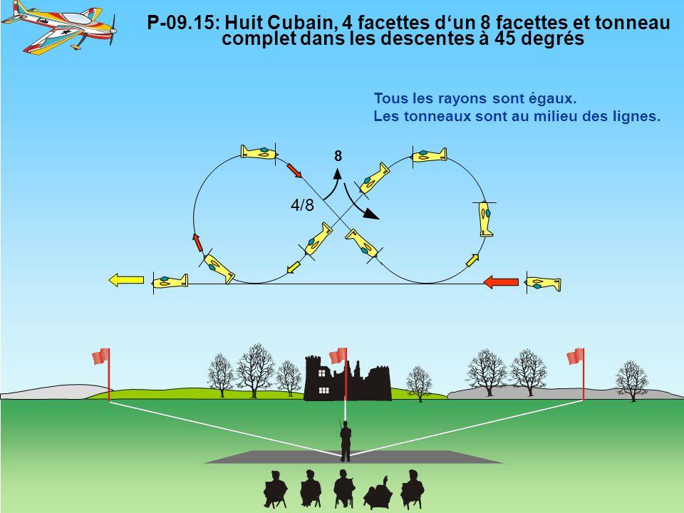 P-09. 15: Huit Cubain, 4 facettes d'un 8 facettes et tonneau