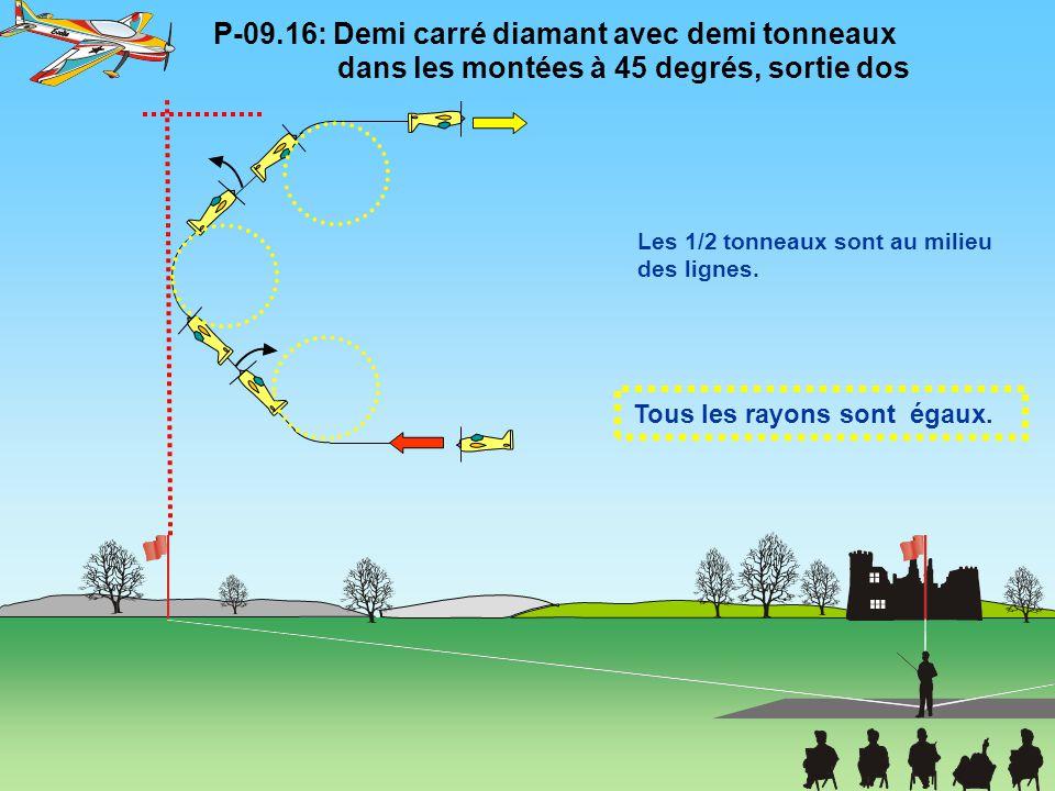 P-09. 16: Demi carré diamant avec demi tonneaux
