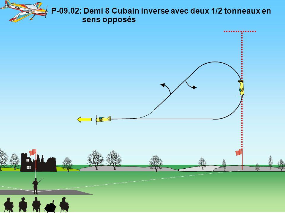 P-09.02: Demi 8 Cubain inverse avec deux 1/2 tonneaux en sens opposés