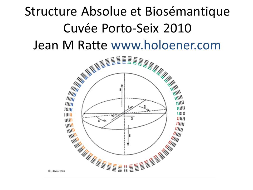 Structure Absolue et Biosémantique Cuvée Porto-Seix 2010 Jean M Ratte www.holoener.com