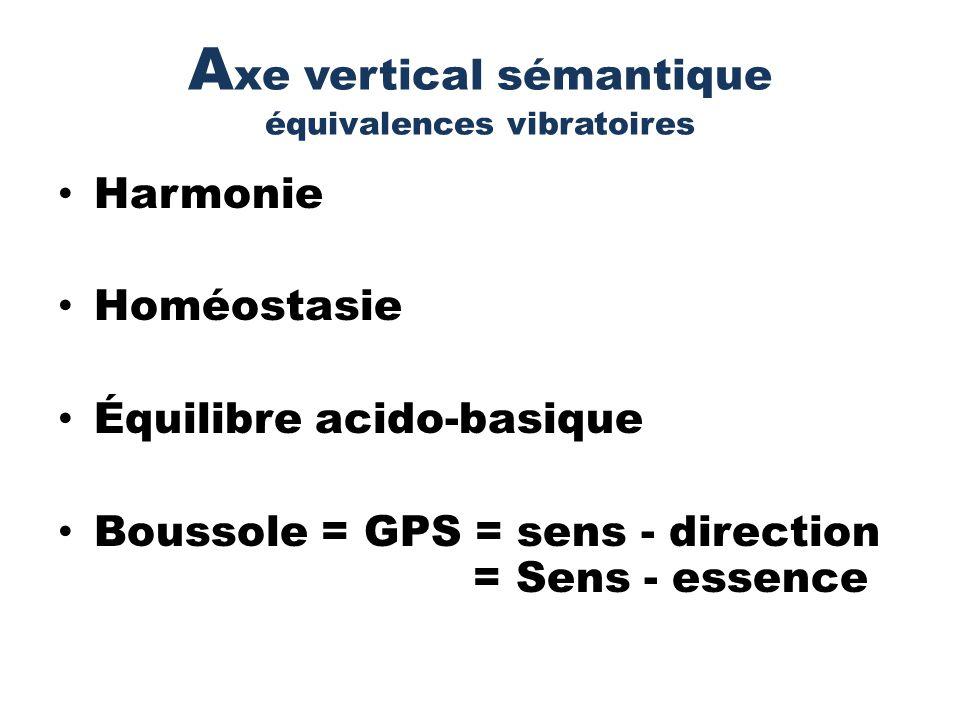 Axe vertical sémantique équivalences vibratoires