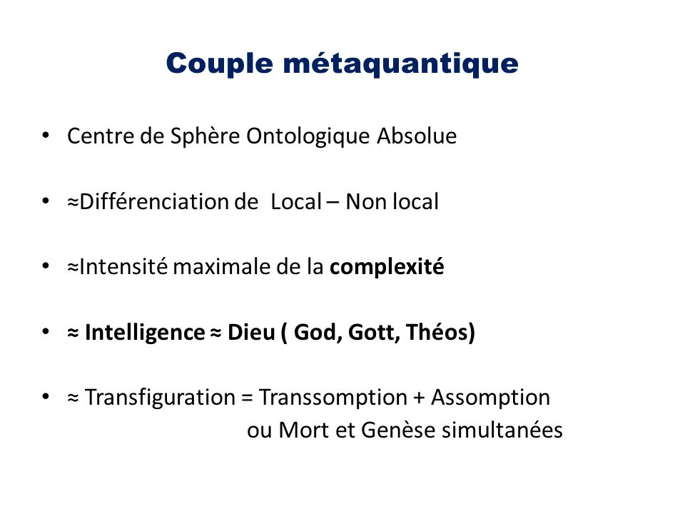Couple métaquantique Centre de Sphère Ontologique Absolue