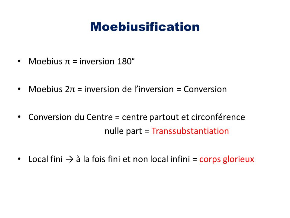 Moebiusification Moebius π = inversion 180°