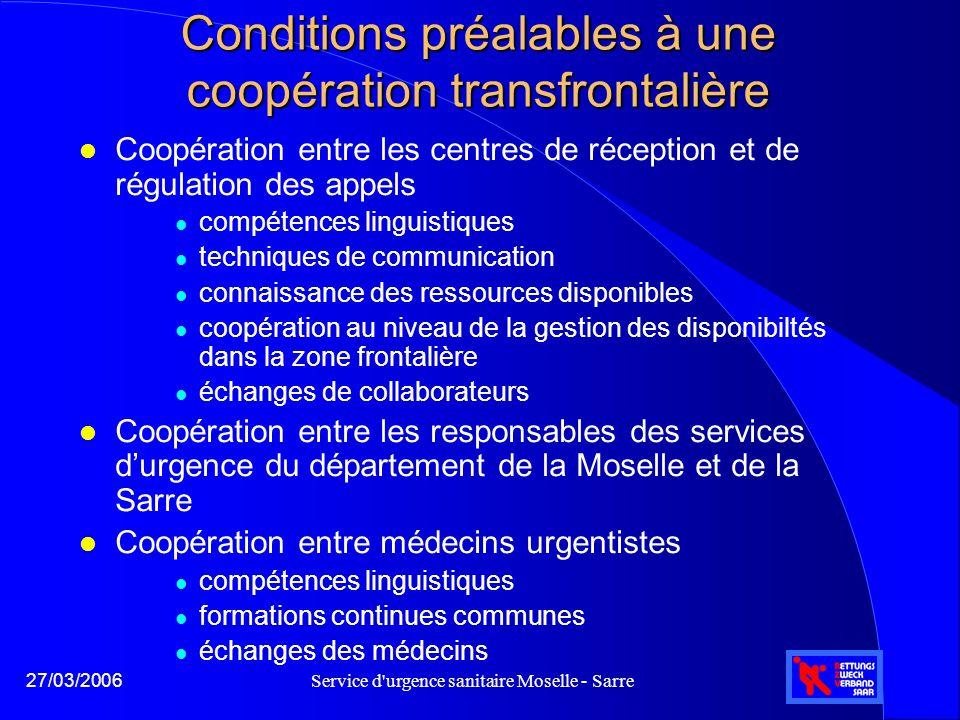 Conditions préalables à une coopération transfrontalière