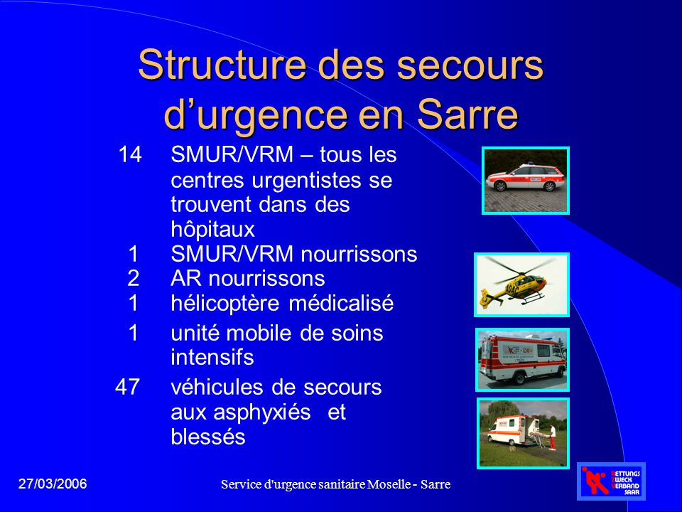 Structure des secours d'urgence en Sarre