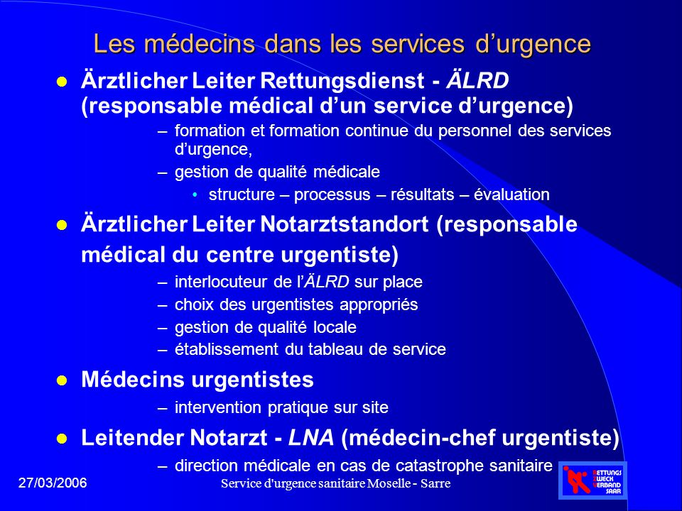 Les médecins dans les services d'urgence