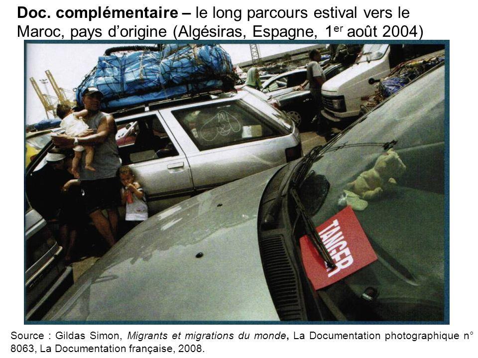 Doc. complémentaire – le long parcours estival vers le Maroc, pays d'origine (Algésiras, Espagne, 1er août 2004)