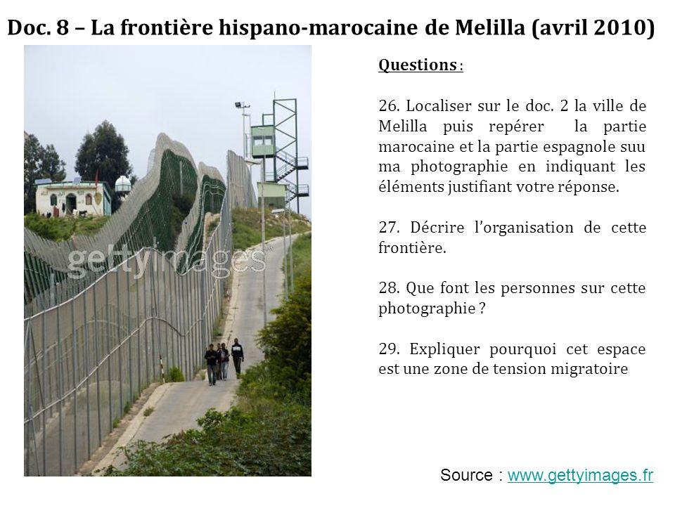 Doc. 8 – La frontière hispano-marocaine de Melilla (avril 2010)