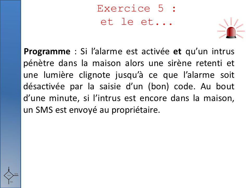 Exercice 5 : et le et...