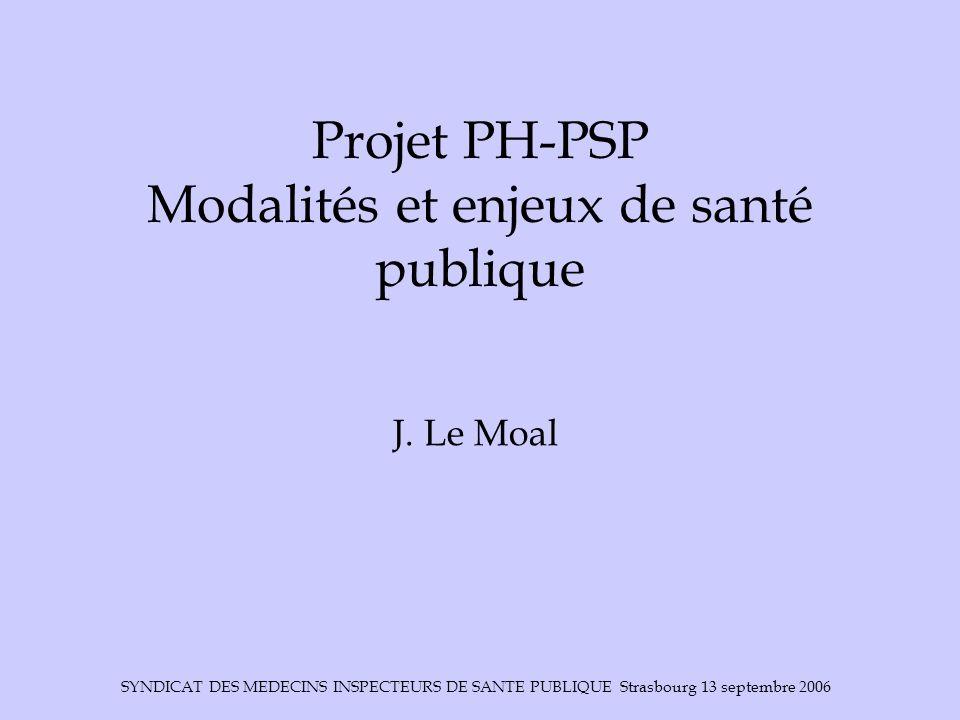 Projet PH-PSP Modalités et enjeux de santé publique