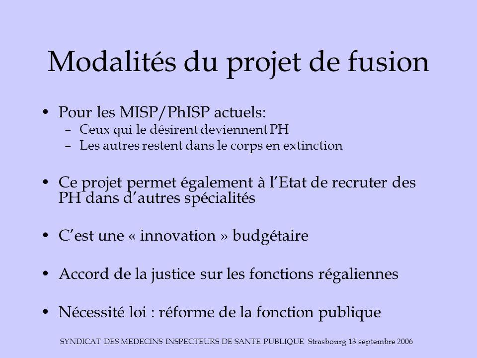 Modalités du projet de fusion