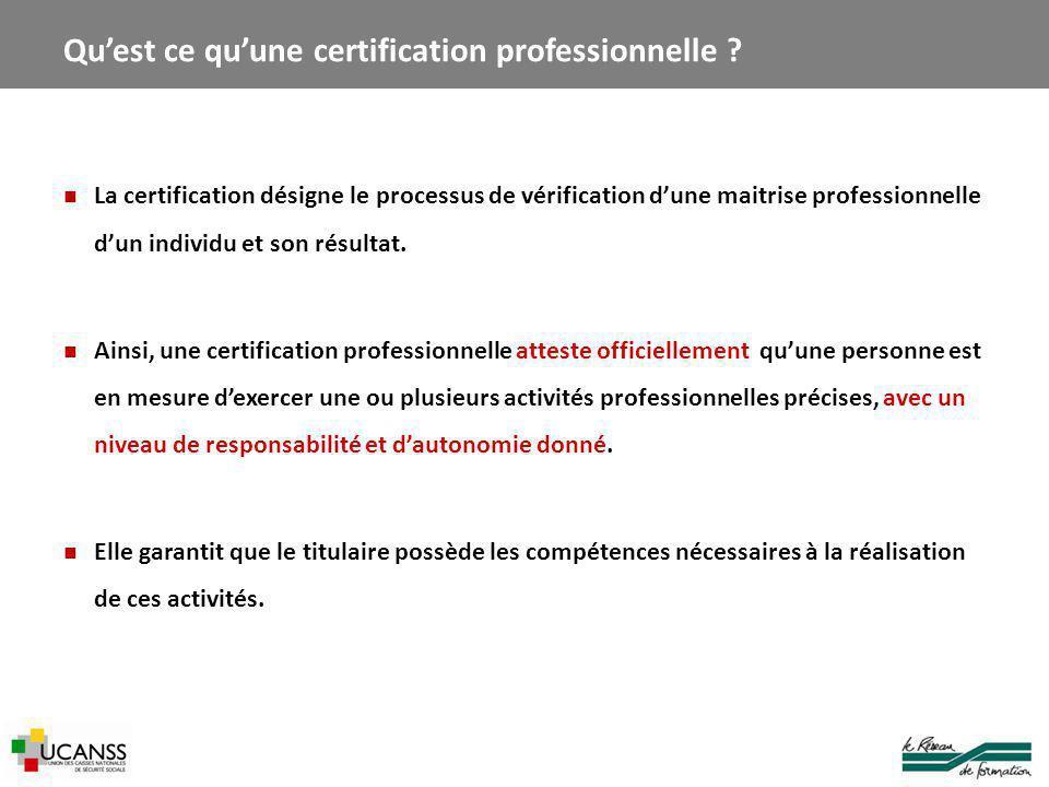 Qu'est ce qu'une certification professionnelle