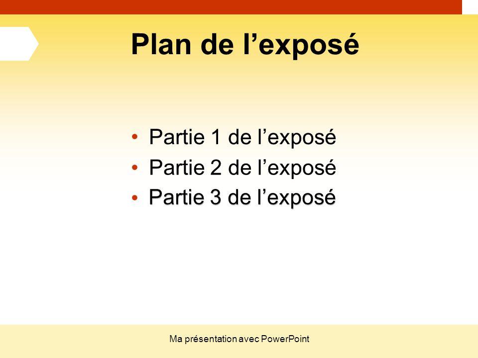Ma présentation avec PowerPoint
