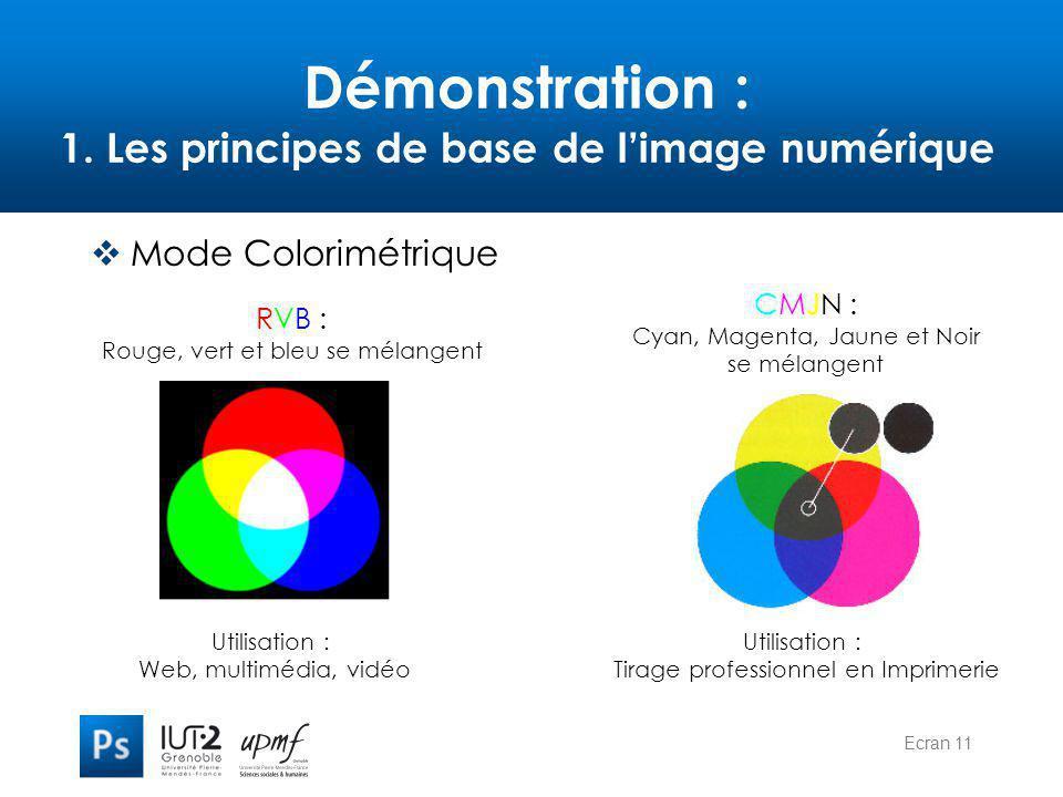 Démonstration : 1. Les principes de base de l'image numérique