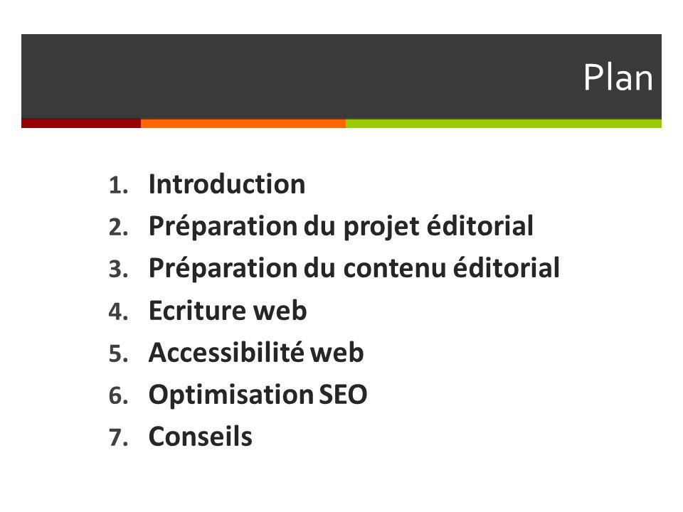 Plan Introduction Préparation du projet éditorial