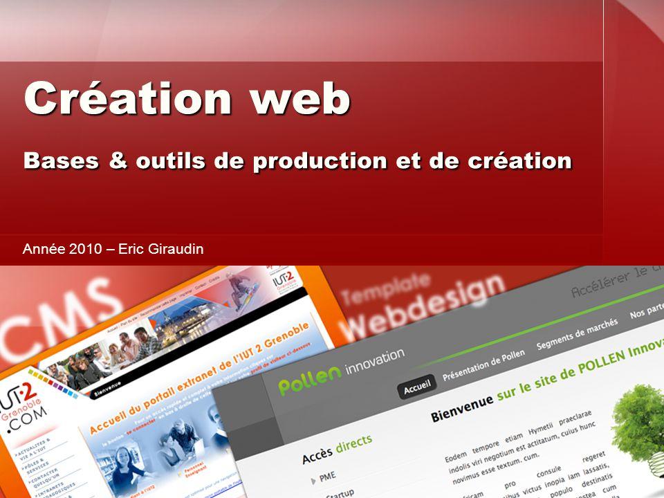 Création web Bases & outils de production et de création
