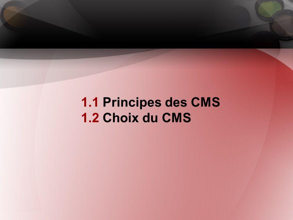 1. Production et gestion web