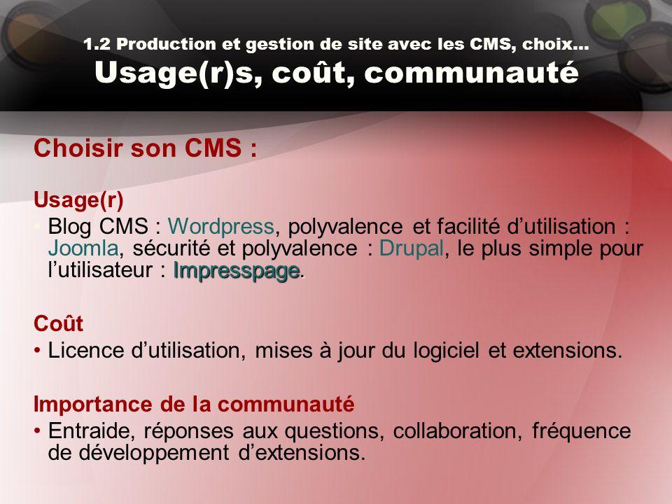 Choisir son CMS : Usage(r)