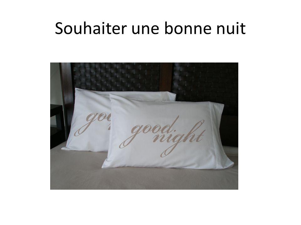 Souhaiter une bonne nuit