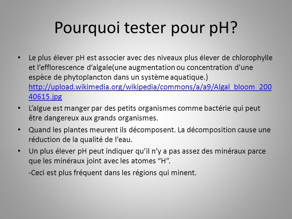Pourquoi tester pour pH