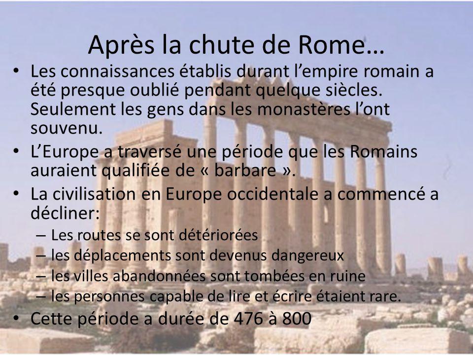 Après la chute de Rome…