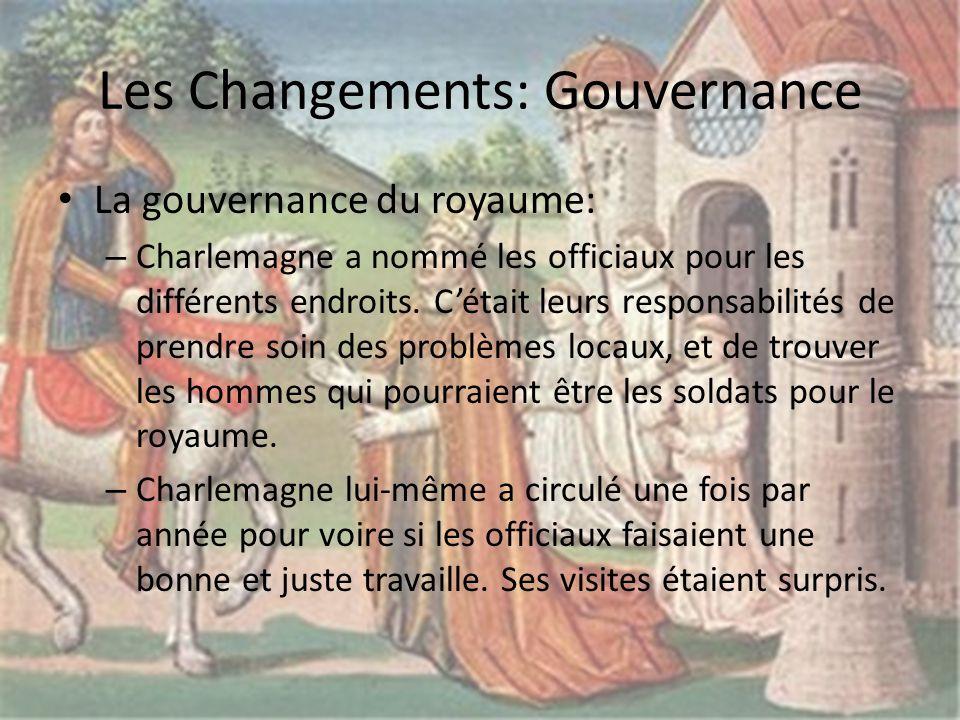 Les Changements: Gouvernance