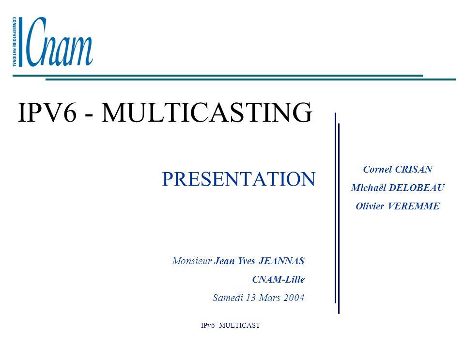 IPV6 - MULTICASTING PRESENTATION Cornel CRISAN Michaël DELOBEAU