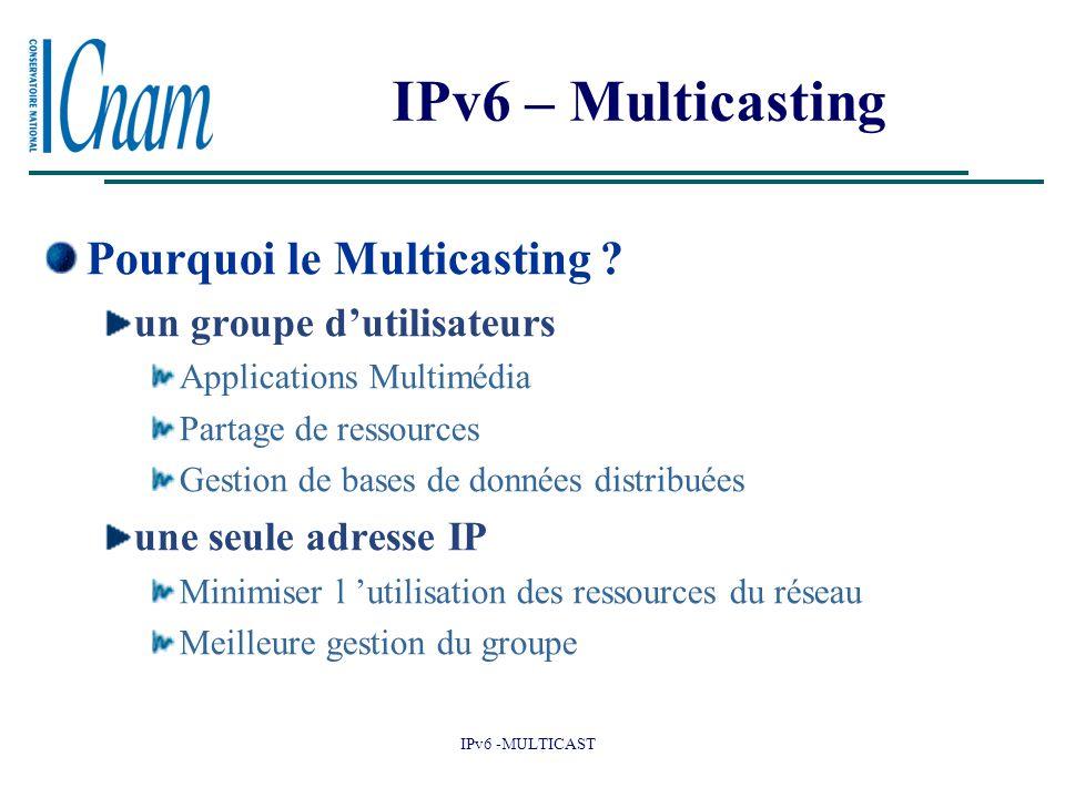 IPv6 – Multicasting Pourquoi le Multicasting