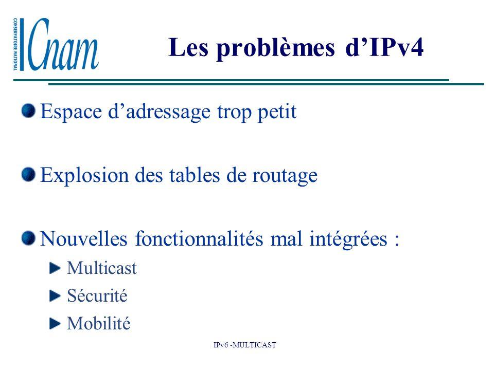 Les problèmes d'IPv4 Espace d'adressage trop petit