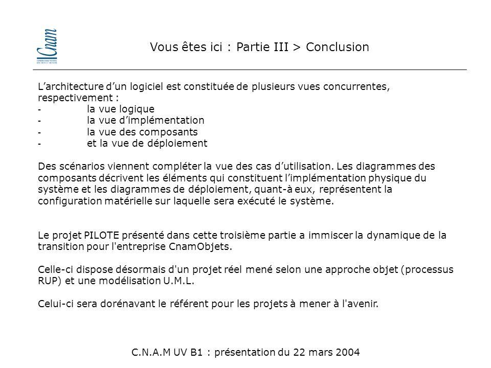 Vous êtes ici : Partie III > Conclusion