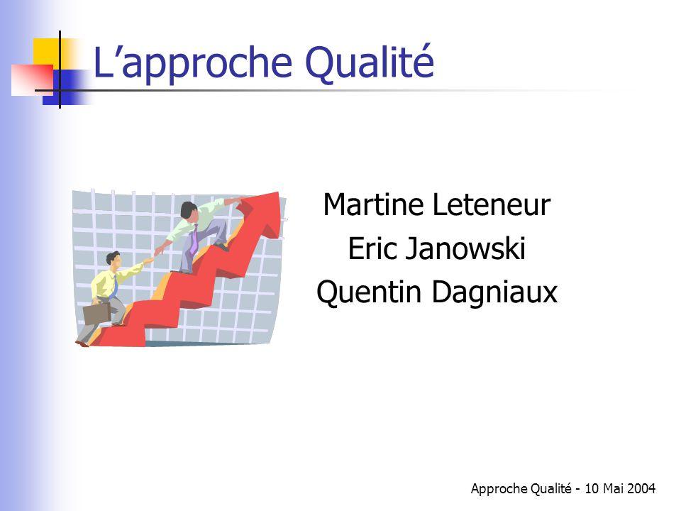 L'approche Qualité Martine Leteneur Eric Janowski Quentin Dagniaux