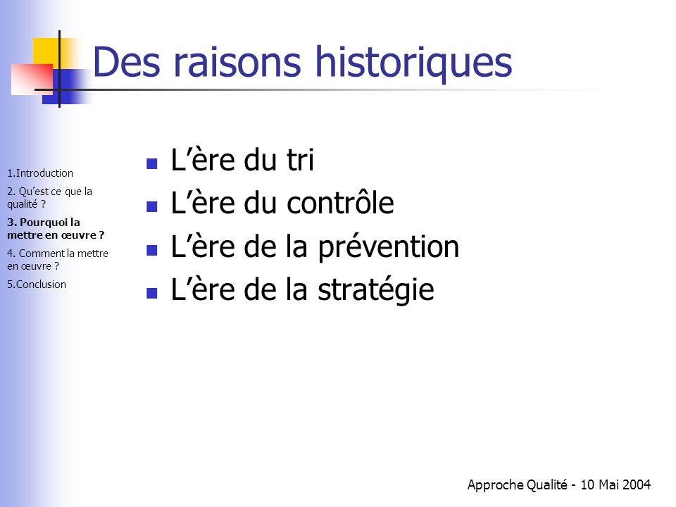 Des raisons historiques