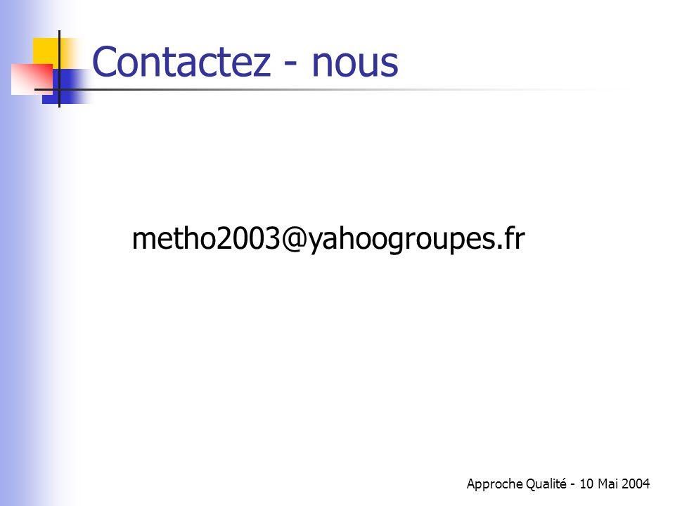Contactez - nous metho2003@yahoogroupes.fr