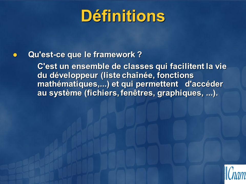 Définitions Qu est-ce que le framework