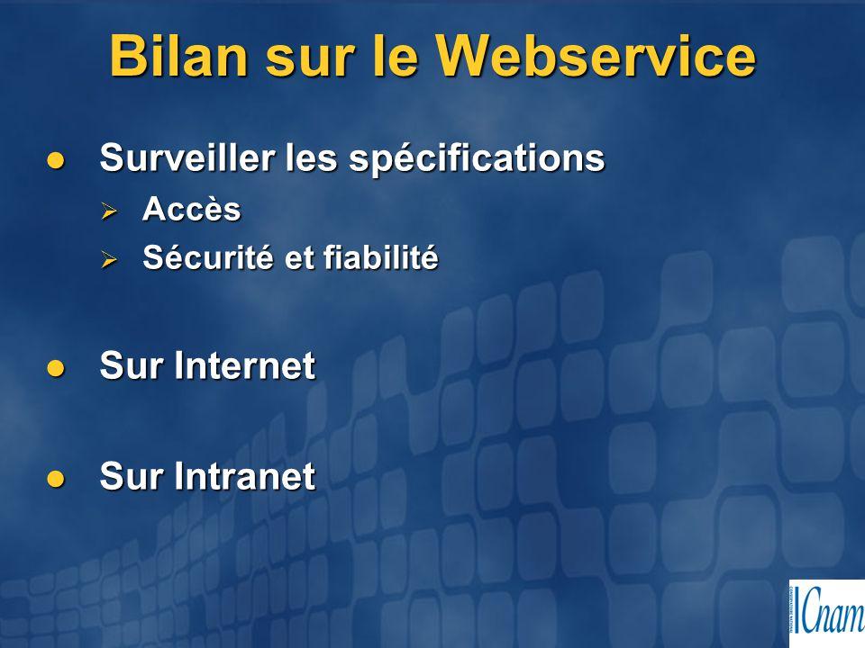 Bilan sur le Webservice