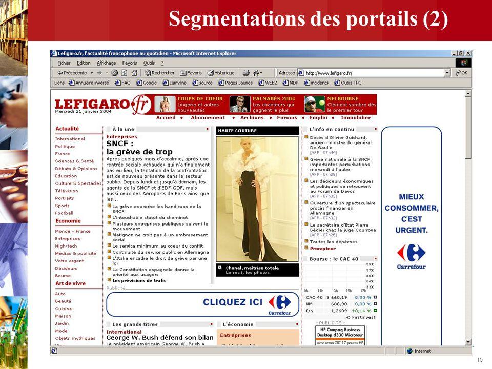 Segmentations des portails (2)
