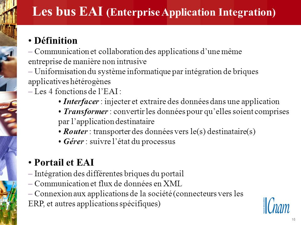 Les bus EAI (Enterprise Application Integration)