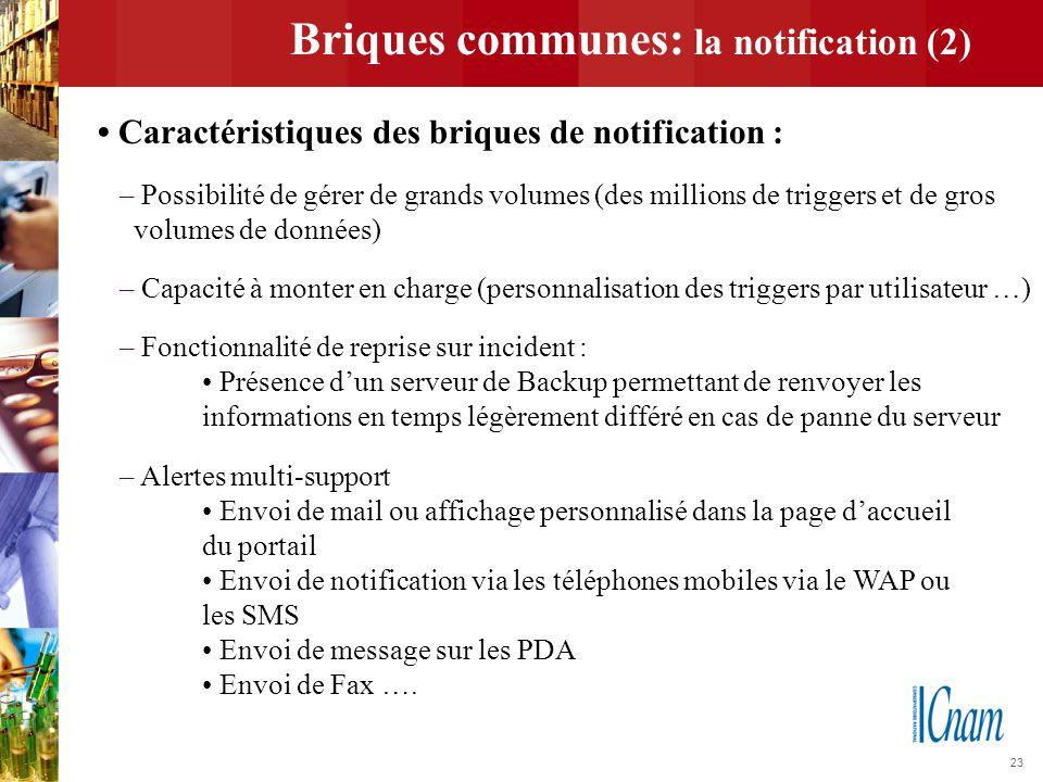 Briques communes: la notification (2)