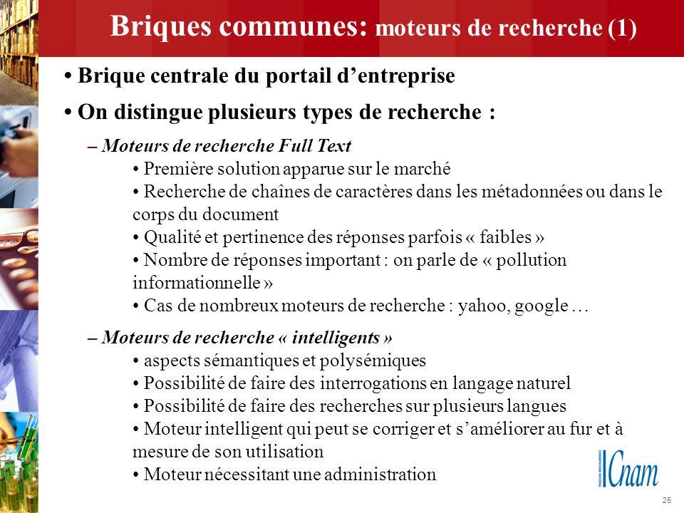 Briques communes: moteurs de recherche (1)