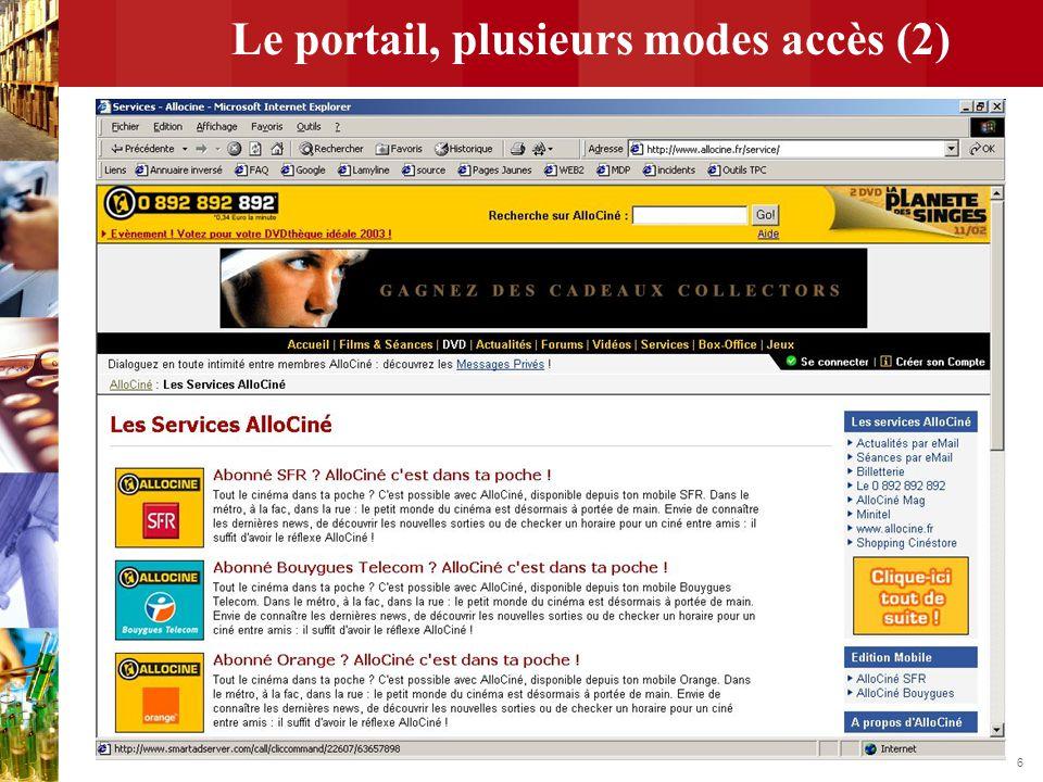 Le portail, plusieurs modes accès (2)