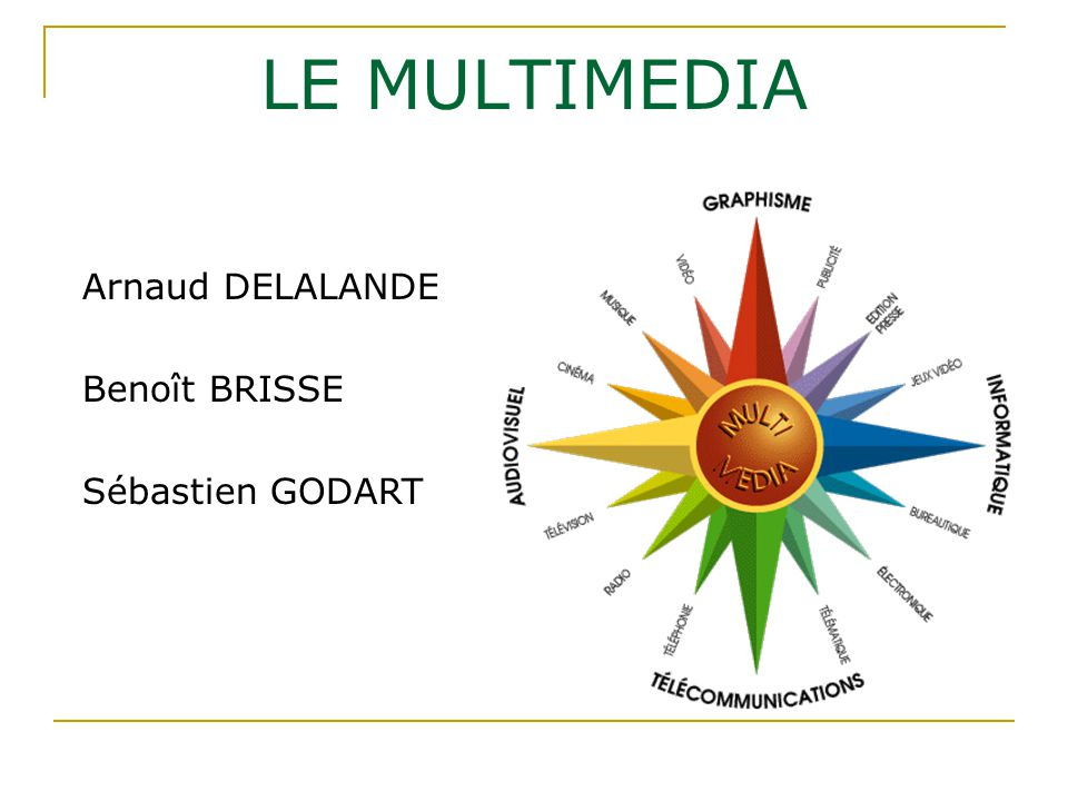 LE MULTIMEDIA Arnaud DELALANDE Benoît BRISSE Sébastien GODART