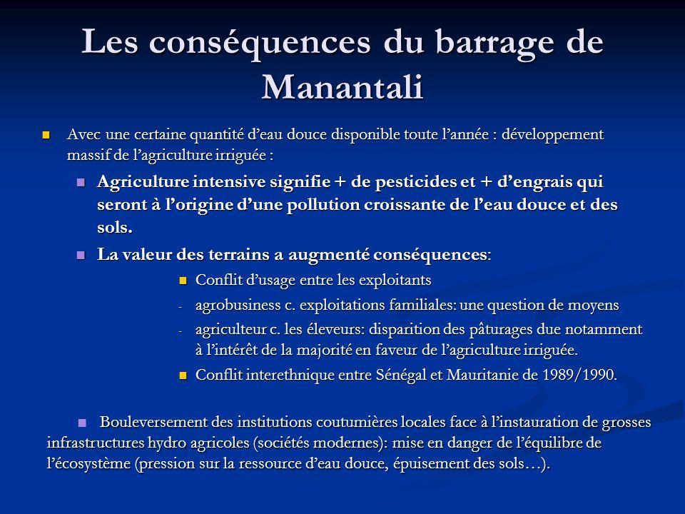 Les conséquences du barrage de Manantali