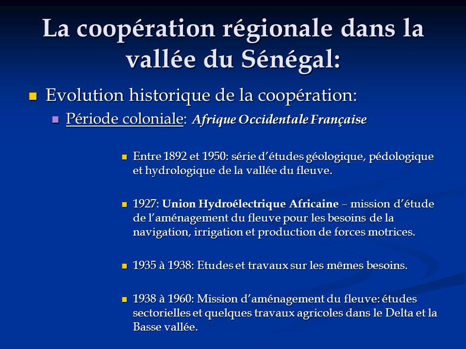 La coopération régionale dans la vallée du Sénégal: