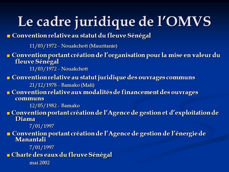 Le cadre juridique de l'OMVS