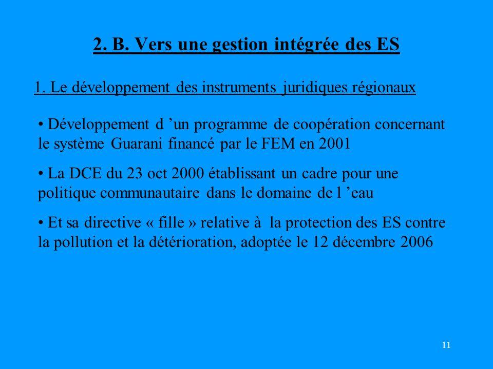 2. B. Vers une gestion intégrée des ES