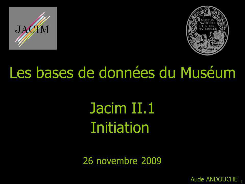 Les bases de données du Muséum