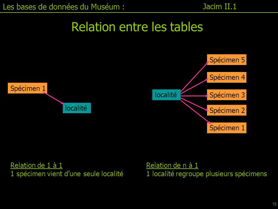 Relation entre les tables