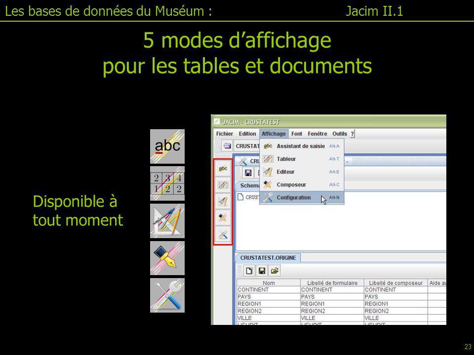 pour les tables et documents