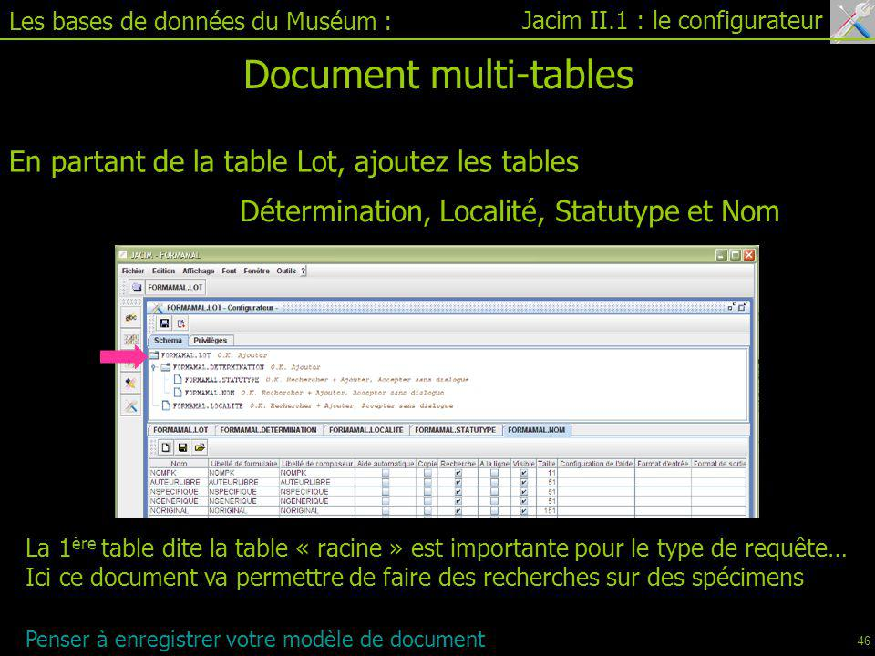 Document multi-tables