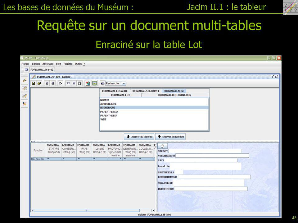 Requête sur un document multi-tables